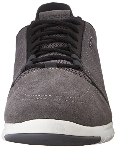 Geox Xunday 2fit A, Baskets Basses Homme Gris - Grey (Grey/Black)