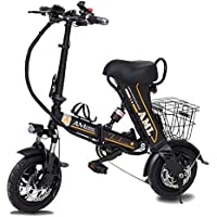 Bicicleta Eléctrica Plegable para Adultos De 12 Pulgadas, Absorción De Choque De 36V 350W Batería