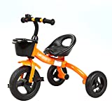 Dreiräder- 3 Rad Fahrrad Kind Dreirad Fahrrad Baby Spielzeug kinderwagen 2-6 Jahre Alt Jung (Farbe : Orange)