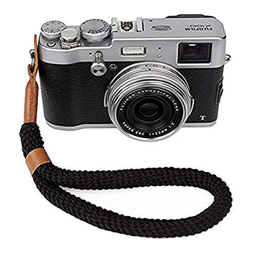 Kamera Handschlaufe, Baumwoll Wrist Strap im Retro Look - Universal Handgelenkschlaufe für Systemkameras/Digitalkameras Handschlaufe für Spiegellose Kameras (23cm)