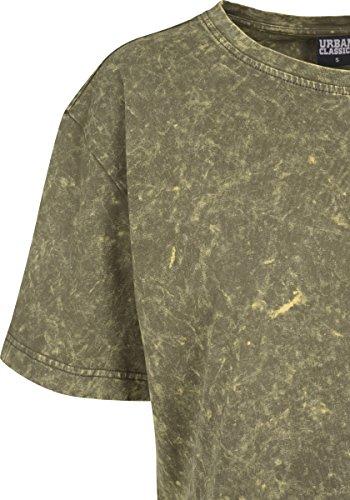 Urban Classics Ladies Random Wash Short Oversize Tee, T-Shirt Donna Grün (Olive 176)