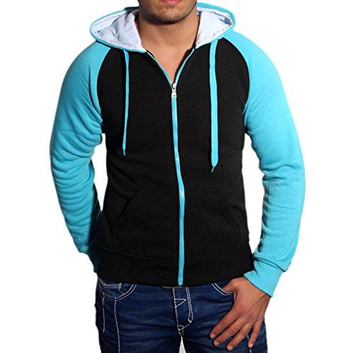 Subliminal Mode Herren Blouson Strickweste blau blau L Schwarz