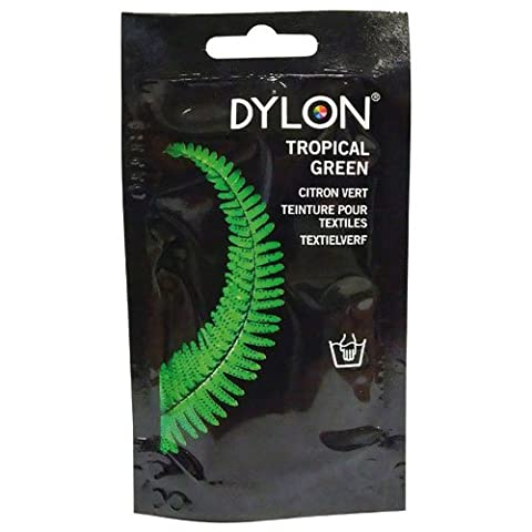 Dylon Hand Dye, Powder, Tropical Green 50g