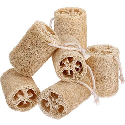 6 Pack Natur Luffa Peeling Badeschwämme Dusche Luffa Körperwäscher Natürliche Schwämme für Körper