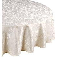 Premier 69-inch Cadiz Round Tablecloth, Glacier
