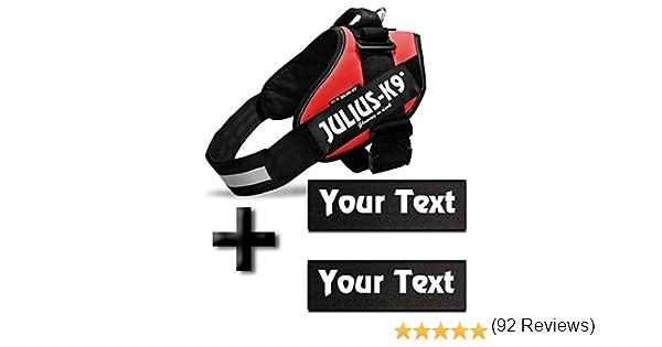Canicaprice Harnais Julius K9 Power IDC Rouge Poitrail : 33-45 cm Baby 2 2 /étiquettes /à Personnaliser