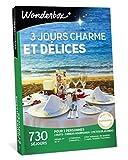 Wonderbox - Coffret cadeau couple - 3 JOURS CHARME ET DÉLICES - 730 Séjours de 2 nuits en Hôtels 3 et 4 étoiles, Châteaux, Manoirs
