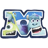 Character World Disney Monsters Inc University Shaped Plush Cushion, Multi-Color