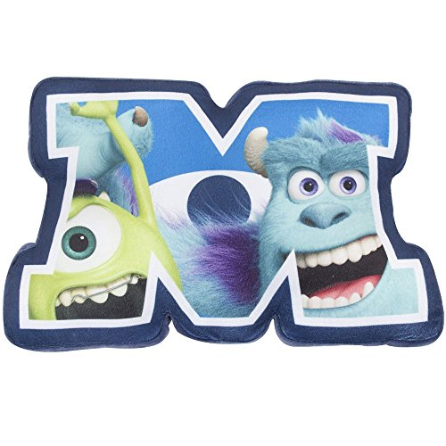 Image of Character World Disney Monsters Inc University Shaped Plush Cushion, Multi-Color