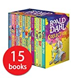 Roald Dahl: 15 books collection pack: The Witches, Matilda, The BFG, Going Solo, the Giraffe the Pelly and Me, The Magic Finger, James and the Giant Peach, The Twits, Charlie and the Great Glass Elevator, Mr Fox, Esio Trot, Charlie Chocolate Factory,