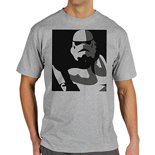 Star Wars Battlefront Jedai Yedi Game Stormtrooper Background Herren T-Shirt Grau