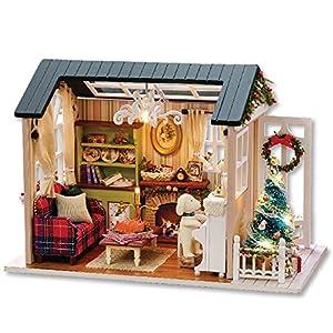 Culater® Casa di bambola Mobili in miniatura Fai Da Te Puzzle Di Legno Dollhouse miniaturas Casa Giocattolo Bambola Per Regalo Di Compleanno Scatola Theatre Trilogy
