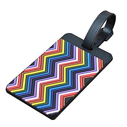 confronta il prezzo EQLEF® Set di 4 etichette per bagagli in PVC, utilizzabili anche come porta biglietti da visita miglior prezzo