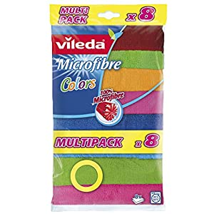 Vileda 148394 Microfaser Allzwecktücher Colors Multipack
