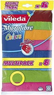 Vileda Colors Mikrofiber Bez, Çok renkli, 8 Parça