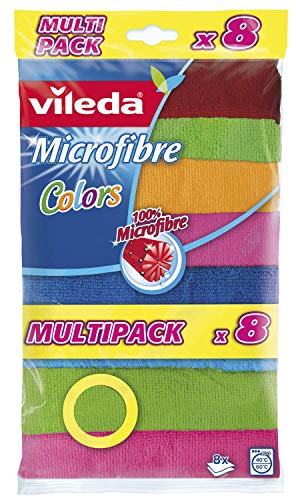 Vileda - Set 8 bayetas Microfibras Colors