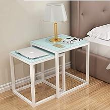 Amazonfr Table Gigogne Verre Blanc
