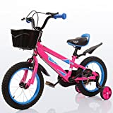 Guo shop- Bicicleta del doblez del niño 3-6-8 años Cochecito de bebé 12 pulgadas 14 pulgadas 16 pulgadas Bicicleta de 18 pulgadas bicicletas para niños ( Color : Pink , Tamaño : 16Inch )