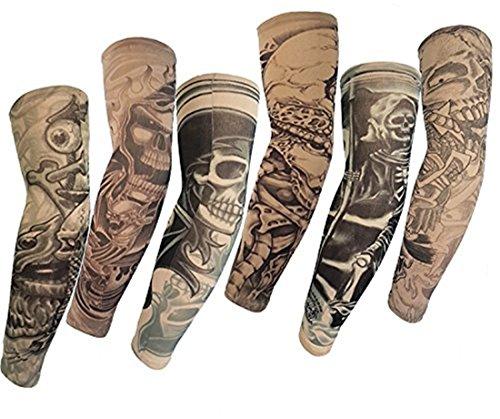 SHINA Fatto di alta qualità Hot 2015 6 pc temporanea falso-scivolo Tatoo dei manicotti del braccio Kit M