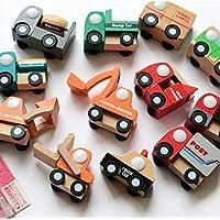 Holzspielzeug Baby Holzkarre Karre mit Bausteinen Spielzeug aus Holz Kinder Kleinkind HM012787