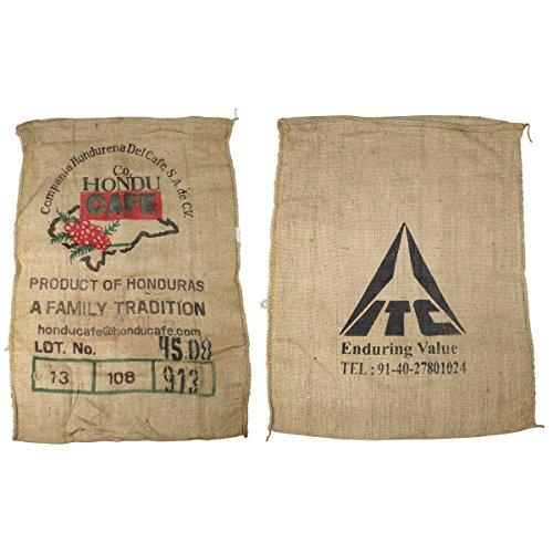 10pezzi usato Sacchi di caffè in Honduras in iuta Bedruckt Kaffe Sacco di juta 70x 90cm