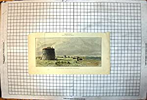 Copie Antique de Notre Plage de Couleur de Baie de Pevensey de Tours de Martello des Défenses Côtières