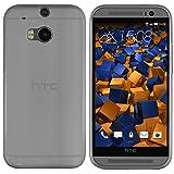 mumbi UltraSlim Hülle für HTC One M8 / M8s Schutzhülle transparent schwarz (Ultra Slim - 0.55 mm)