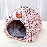 Homclo Druckt Hunde Nest aus Stoff Haustier Nest hundehöhle hundehaus hundehütte innen hundebett Katzebett