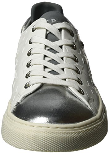 Replay Market, Chaussons montants femme Weiß (White Silver)