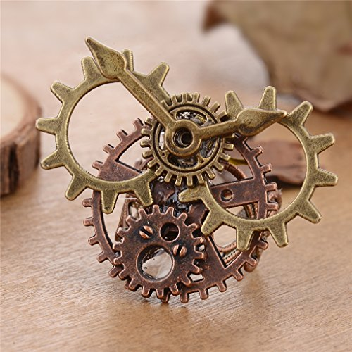 Fenteer Adult s Gothic Steampunk Mask   Antique Gears Ring Set Fancy Dress Party Costume