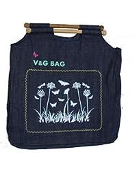 Multipurpose Washble Denim Grocery Bag/Fruit Vegetable Bag/General Use Bag/Shopping Bag/Luggage Bag | DCGW00-4