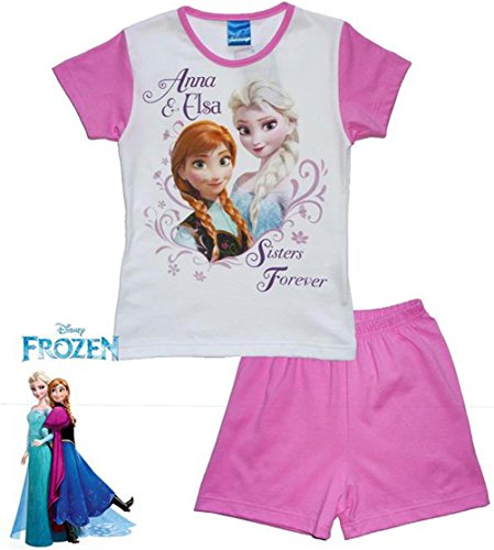 Frozen-Disney-Pigiama-estivo-rosa-e-panna