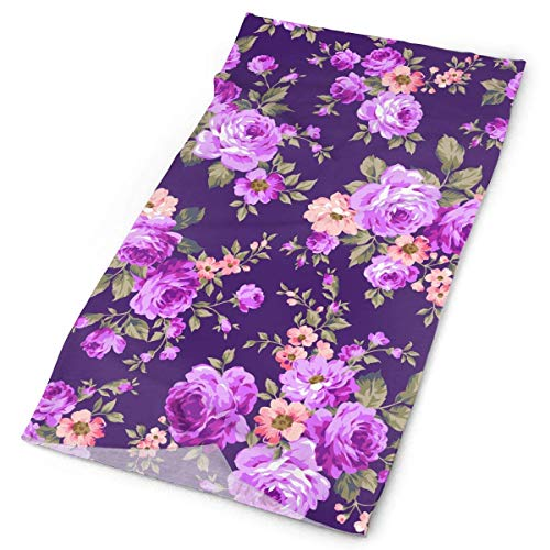 But why miss Rose Flower Pattern Outdoors & Daily Headwear,Bandana,Headband,Neck Gaiter,Balaclava,Helmet Liner for Running Riding Skiing Hiking -