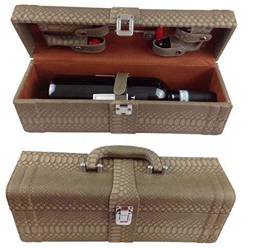Vino Box Set da vino 6pezzi accessori vino Set regalo con cavatappi da sommelier cavatappi tappo per bottiglia termometro per vino versatore in elegante confezione regalo in pelle Set da vino vino Set accessori LN 16–10