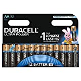 Duracell Ultra Power Type AA Alkaline Batteries, Pack of 12