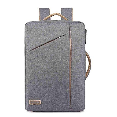 Neuleben Multifunktional 15.6 Zoll Laptop Rucksack Handtasche Diebstahlschutz Wasserfest Business Aktentasche Notebooktasche für Damen Herren (Grau)