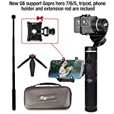 Feiyu G6 Gimbal for Gopro Hero 8/7/6/5/4/3,SJcam, Yi 4K Or Similar Size for Action Camera,Including Tripod Stand and Extension Rod