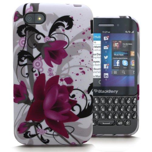 Accessory Master 5055716366518 Pattern Lotus Flower Silikon-Hülle für Blackberry Q5 rose