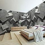 Geometrisches Stereolithographiezement des Wandpapers 3D kühles Büro-Galeriecafeteria moderne speisende Kunst