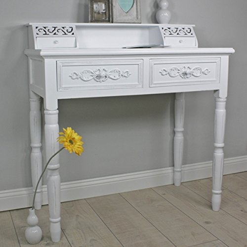 Bureau Antique White Country Home Style Shabby Chic Console
