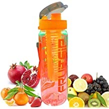 Imago Orange Fruit Infuser Fuzer Infusing Sports Water Bottle Detox Juice Maker Infusion BPA Free (700ml)
