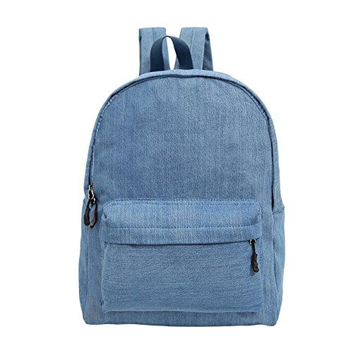 Imagen de tgloe® vaquero lienzo espalda  color sólido llevar cartera azul