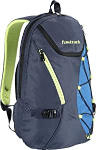 Fastrack 23 ltrs Navy Blue and Green Casual Backpack (A0513NBL01)