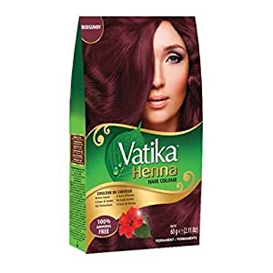 Vatika Henna Hair Colours Henna Based 60 Gram (Burgundy)