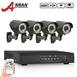 ANRAN 4CH PoE NVR Home Security Camera System - 4 HD 1080P 2.8 ~ 12mm Manuell Zoom Wetter 120ft Nachtsicht Kugel PoE-IP-Kamera