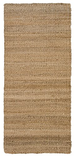 Jute & Co. Double Face - Alfombra 100% fibra de yute, 50 x 80 cm, hecha a mano, color paloma (gris claro)