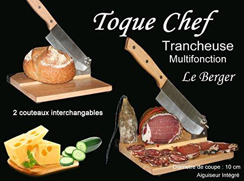 Affettatrice Universale 2 in 1 2 coltelli a taglia-salame formaggio pane Toque  Chef by 9654bbd332ae