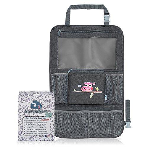 ücksitz Organizer | Premium Rückenlehnenschutz | Rücksitztasche für Ihren Autositz (Pink) (Auto-organizer Für Baby)
