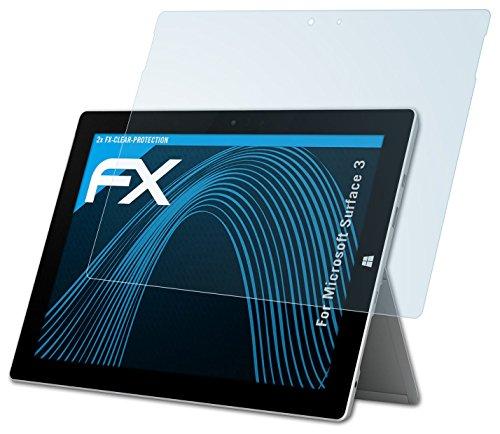 Microsoft Surface 3 Schutzfolie - 2 x atFoliX FX-Clear kristallklare Folie Displayschutzfolie