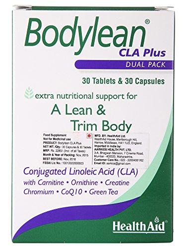 HealthAid Bodylean CLA Plus - 30 Kapseln und 30 Tabletten [Badartikel] - Antioxidant 30 Tabletten